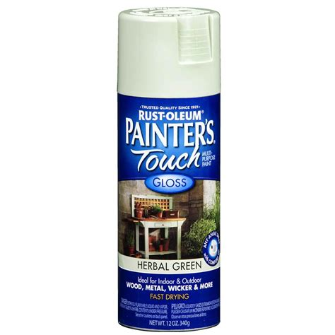 spray painter lowes shop rust oleum 12 oz herbal green gloss spray paint at