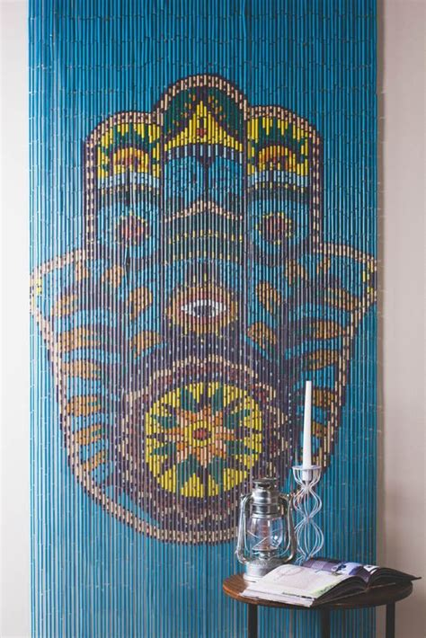 hippie bead curtains walls doorways or just anywhere these painted door