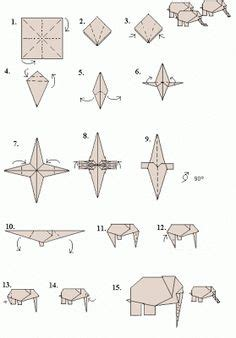 origami elephant diagram roll tide kid and origami on