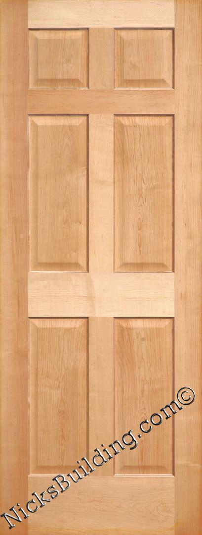maple interior door maple doors maple interior 6 panel doors