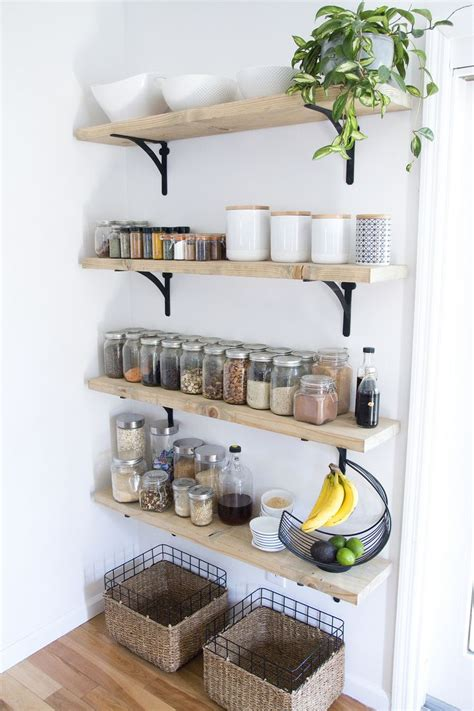 open shelving for kitchen best 10 kitchen wall shelves ideas on open
