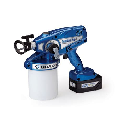 portable paint sprayers home depot graco truecoat pro ii cordless airless paint sprayer