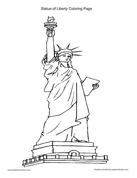statue liberty coloring page sketch coloring page