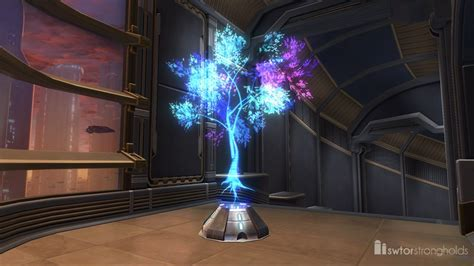 hologram decorations holographic tree blue decoration swtor strongholds