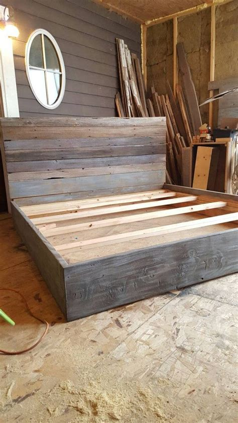wood bed frame construction 25 best ideas about reclaimed barn wood on
