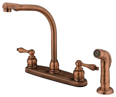 antique copper kitchen faucets high arch antique copper kitchen faucet with sprayer contemporary kitchen faucets by