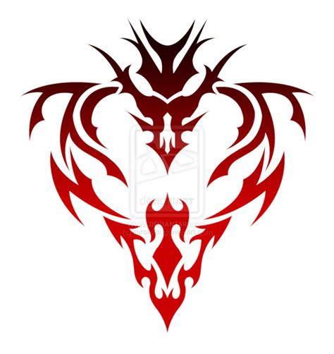 dragon heart tribal v3 red by kuroakai on deviantart