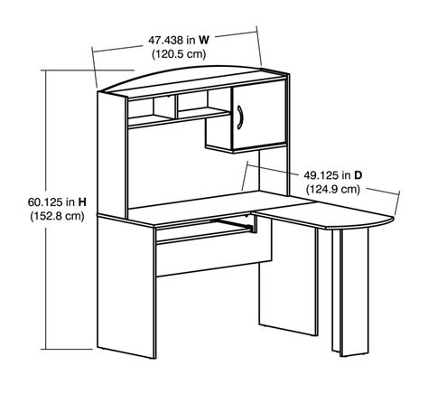 computer desk ergonomics measurements computer desk measurements sonoma black computer desk at