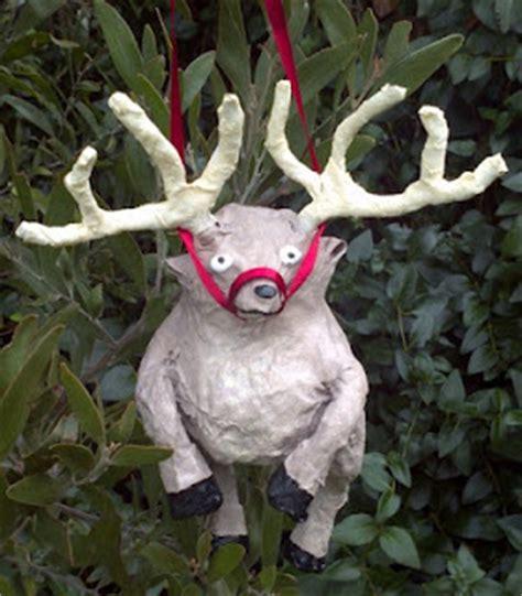 paper mache reindeer craft crafty beanut mini paper mache reindeer for the