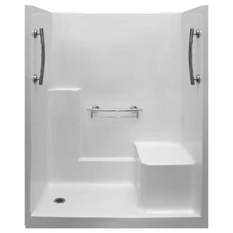 Walk In Shower Kits With Seat by Imperial 60 X 32 One Piece Low Threshold Shower Stall