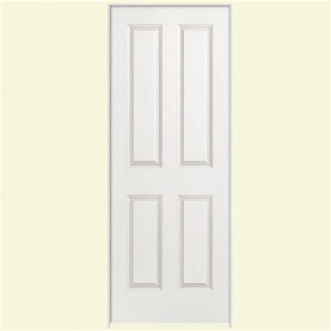 24 x 80 interior door masonite 24 in x 80 in smooth 4 panel hollow primed