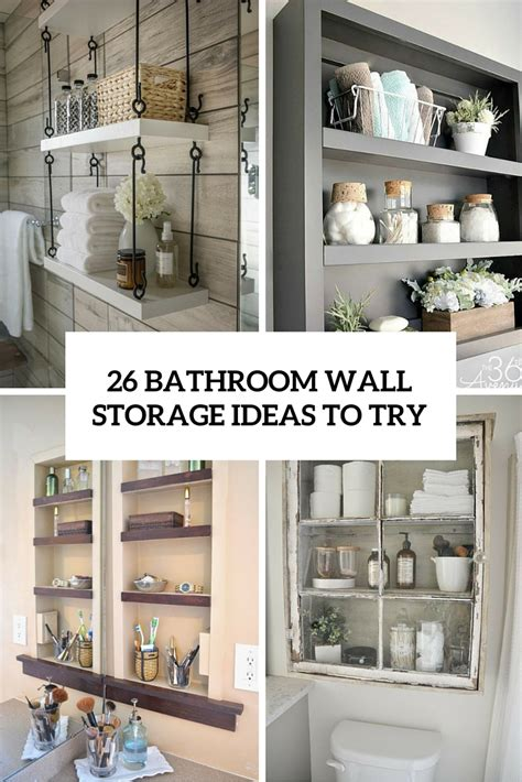 best bathroom storage 26 simple bathroom wall storage ideas shelterness
