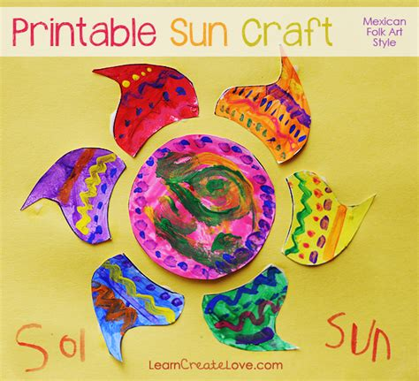 mexican craft for printable craft mexican folk sun