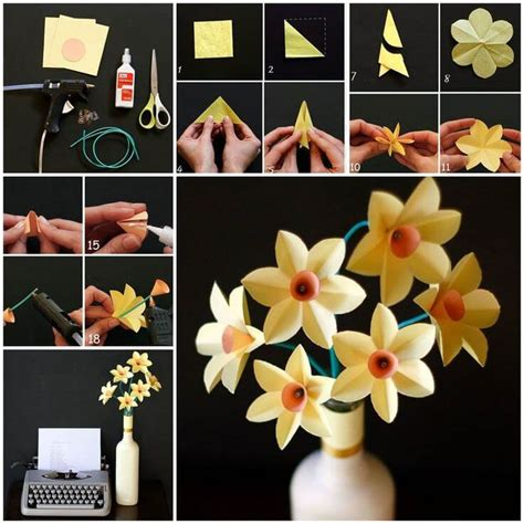 how to make easy paper craft step by step diy origami flowers step by step tutorials k4 craft