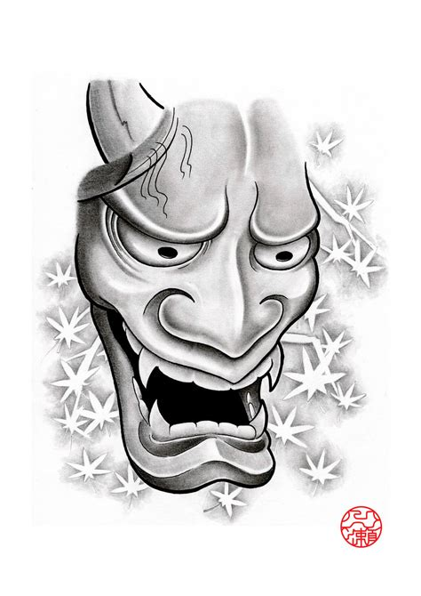 hannya mask 2 by laranj4 on deviantart