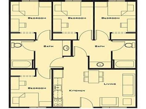 house plans with 4 bedrooms smallest 4 bedroom house plans bedroom style ideas 4 bedroom house plans small foorprint 4 free