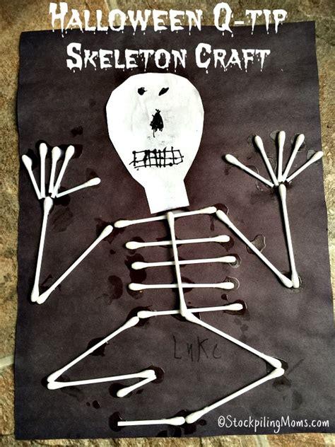 skeleton craft for q tip skeleton craft