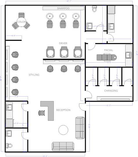 nail salon floor plan design free salon floor plans barber shop salons