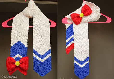 sailor moon knitting patterns sailor moon scarf pattern available by xmangorose on