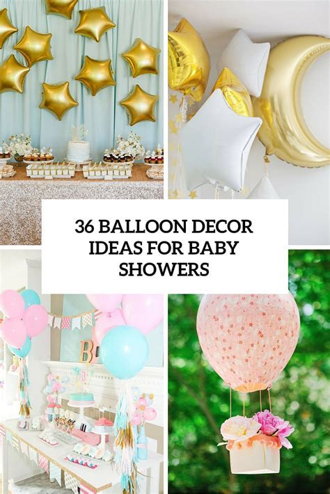 36 Cute Balloon Décor Ideas For Baby Showers   DigsDigs