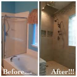 bathroom tub to shower remodel bathroom remodel removed garden tub to make room for a