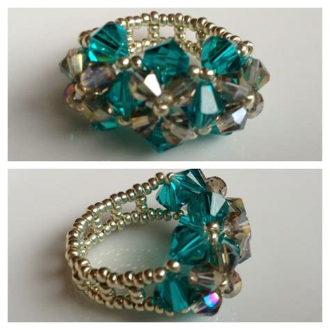 beaded ring 1000 ideas about beaded rings on peyote ring