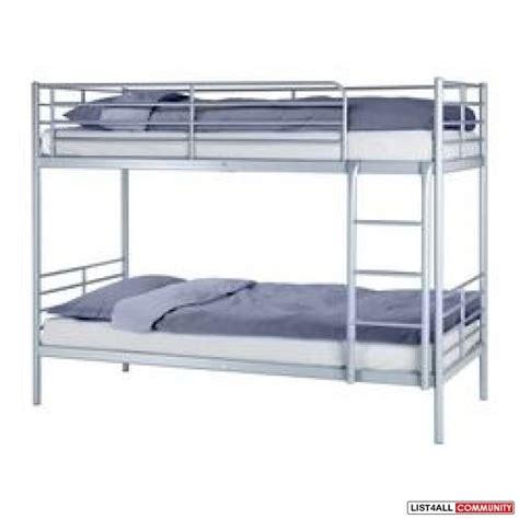 bunk bed ikea bunk bed ikea tromso with sultan foam mattress peaks