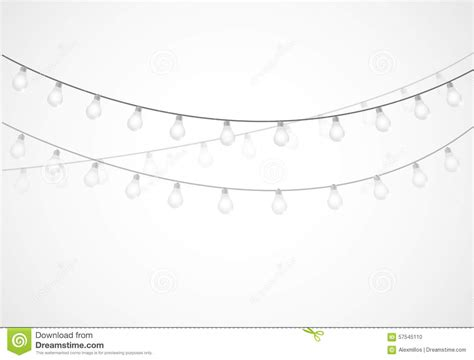 white hanging lights string of lights hanging light bulbs stock illustration