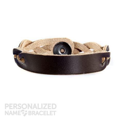 custom leather bracelets personalized leather bracelet brown id personalized leather bracelets