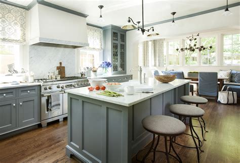 grey blue kitchen cabinets blue gray cabinets transitional kitchen westbrook