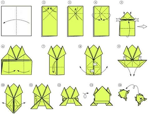 how to make an easy origami frog frog jumping