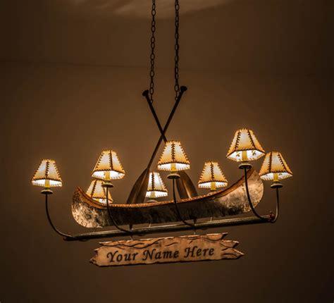 birch canoe chandelier