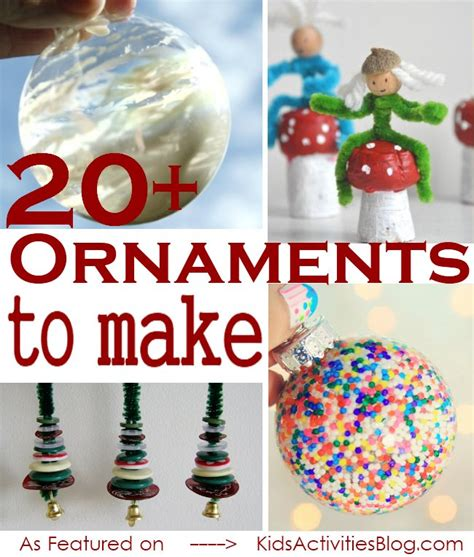 easy tree ornaments to make 20 easy ornament crafts