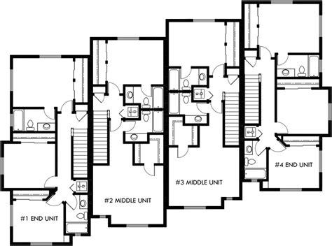 garage house floor plans townhouse plans 4 plex house plans 3 story townhouse f 540