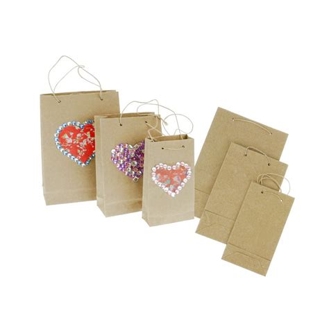 decorative paper bags craft decorative collage kraft bags 3 pack display boxes and