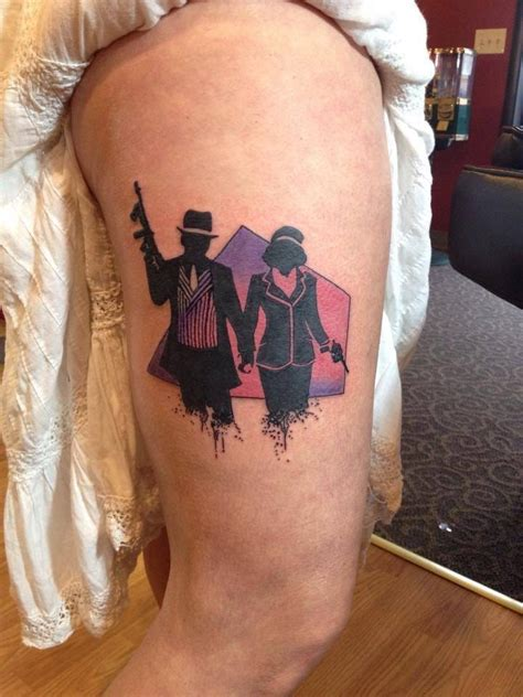 15 bonnie and clyde tattoos for badass couples tattoodo