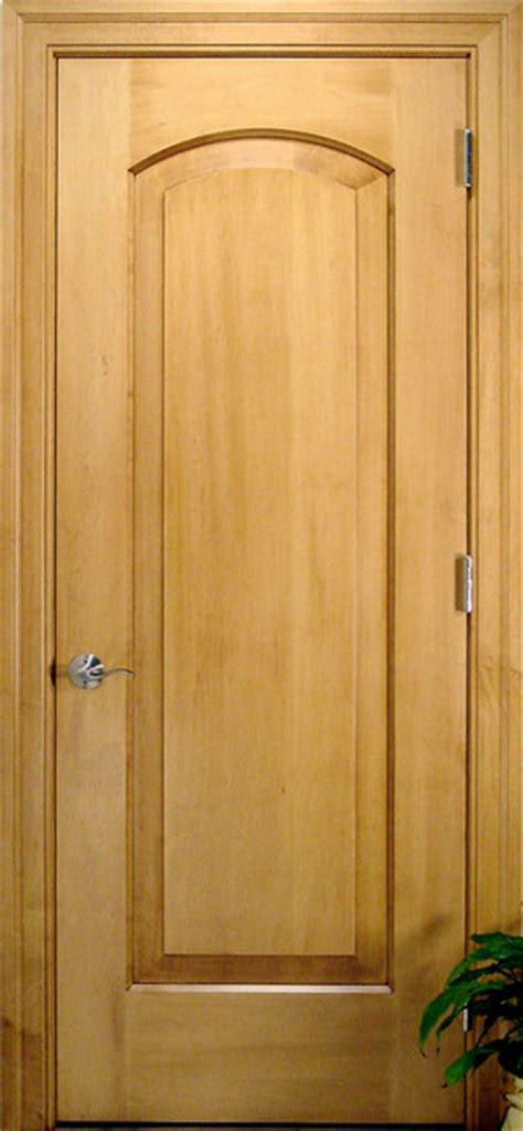 maple interior door arch 1 panel solid wood maple door traditional