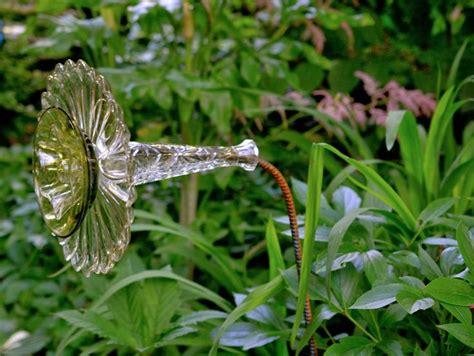 diy glass garden flowers garden made from re purposed rebar and flea market
