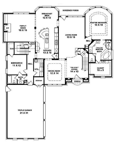 bedroom one 4 bedroom one story house plans marceladick