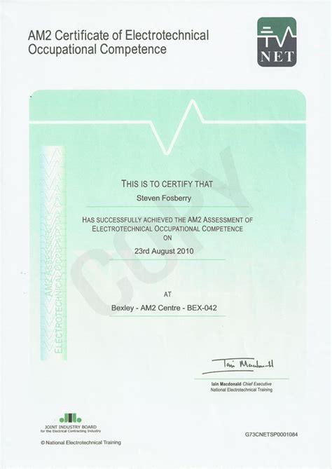 Home Office Design Ltd Uk am2 cert of electrootech occ competence 28 08 2010 saf