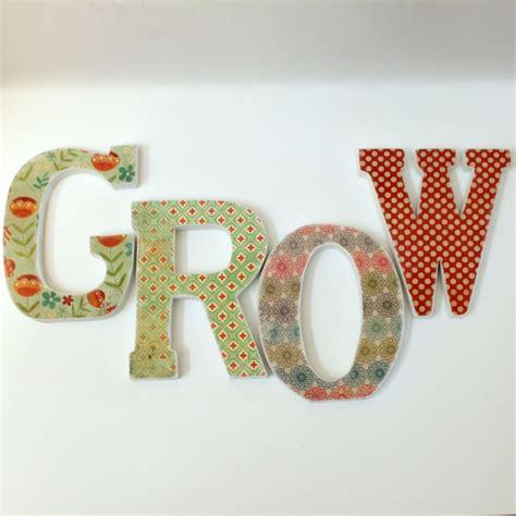 decoupage letters custom names words decoupaged wood letters on luulla