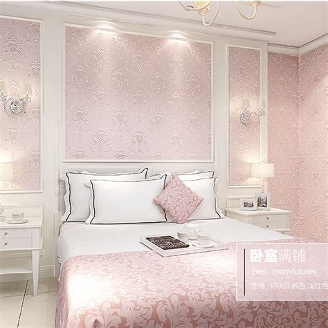 light pink wallpaper for bedrooms beautiful pink decoration