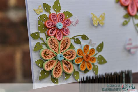 how to make flowers for cards quilled flower card and quilling comb 3birds studio