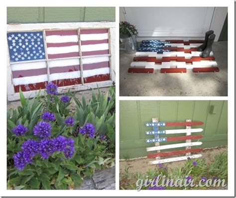 picket fence craft projects inspiration friday no 71 4th of july edition flags