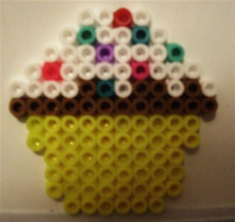 things to make with perler perler bead cupcake all things cupcake