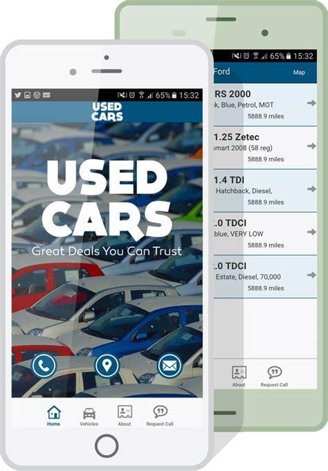 Used Car Apps by Automotive Dealership Apps Make Your Own Car Dealer App