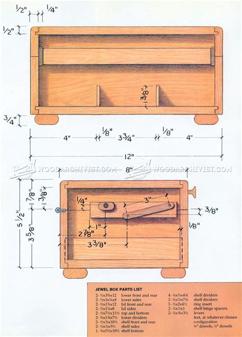 jewelry box woodworking plans wooden jewelry box plans woodarchivist