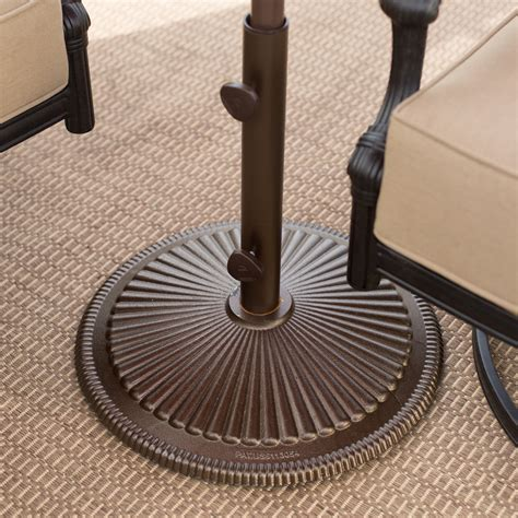 patio umbrellas stands treasure garden 50 lb cast iron classic patio umbrella