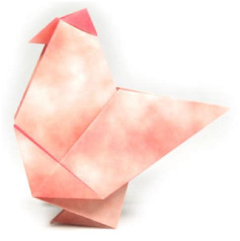 origami hen how to make a traditional origami hen page 1