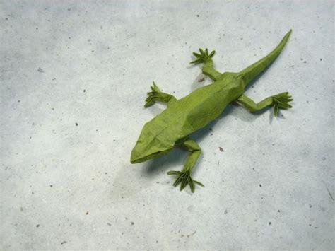 origami gecko frog gecko lizard salamander